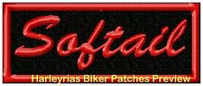 SOFTAIL IN RED BIKER PATCH