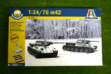 T34/76 M42 Fast Assemble Russian Tank 1/72 Scale Italeri Kit 7523