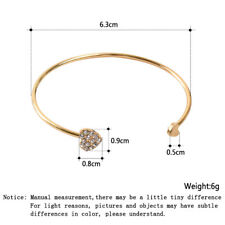 Fashion Women Punk Marble Open Cuff Bracelet Bangle Chain Wristband Jewelry Gift