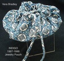 Vintage Vera Bradley Indigo Blue Jewelry Pouch 1997-1999