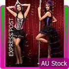Ladies Burlesque Corset Moulin Rouge Lace up Bustier Party Dress Costume Outfits