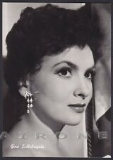 GINA LOLLOBRIGIDA 23 ATTRICE ACTRESS CINEMA MOVIE STAR PEOPLE Cartolina FOTOGR.