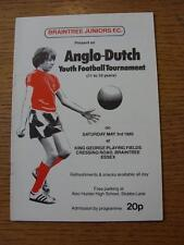 03/05/1980 Anglo-Dutch Youth Tournament: At Briantree Juniors - Local Junior Tea