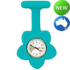 Silicone Frangipani Flower FOB Watch - Turquoise