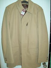 Hickey Freeman Loro Piana Storm System Classic Car Coat NWT Large $1,495 Camel