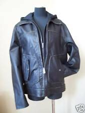 Guess Men's Hooded Black Leather Jacket - NWT size LGE