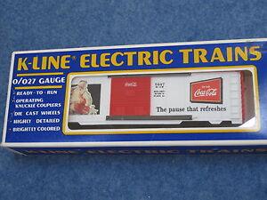 1996 K-Line K-6447 Coca Cola Christmas Edition Historical Box Car L1344