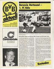 BL 87/88 Borussia Dortmund - 1. FC Köln