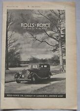 1942 Rolls Royce Original advert No.1