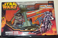 STAR WARS WOOKIEE FLYER WITH WOOKIEE WARRIOR FIGURE REVENGE OF THE SITH NEW RARE