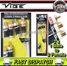 VIBE Audio Piatte Y RCA 2 F 2 maschio a 4 spine fono RCA Donna Splitter Cavo Lead