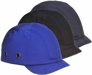 Portwest Short Peak Bump Cap Hard Hat Adjustable Work Wear Safety PW89