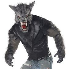 Mens Werewolf Costume Adult Wolf Halloween Full Moon Fury Fancy Dress Outfit