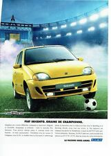 PUBLICITE ADVERTISING 126  1998    la Fiat Seicento SX citymatic