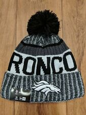Broncos New Era NFL Winter Hat Football One Size Black White NWT