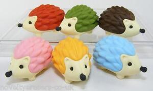 Novelty Japanese IWAKO Animal Puzzle Eraser Rubbers - IWAKO Hedgehog Erasers