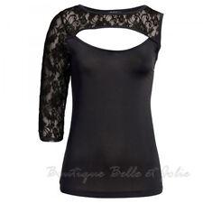 Damenblusen, - tops & -shirts ohne Muster in Größe 42 aus Spitze