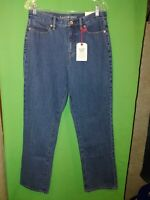 1991) NWT LANDS' END 10 High Rise Straight Jean 100% cotton new 10