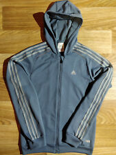 Adidas Vintage Mens Hoodie Tracksuit Top Jacket Hooded Blue Climacool