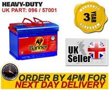 096/100 Banner AGM Car Battery 57001 fits BMW Citroen Ferrari Fiat Ford Jag Merc