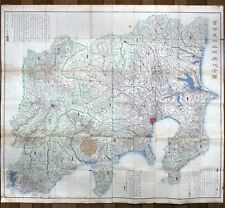 富士見十三州輿地之全圖 Edo Period 1843 Tenpo 14 woodblock print WALL SIZED MAP Mt Fuji