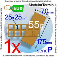 1x Skirmish Movement Tray 5x2 (P 10mm) 25mm Square Base Bandeja De Movimiento