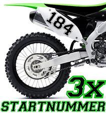 3x Numero di partenza Richiesta Motocross Motociclo Adesivo ATV MX Enduro Barca