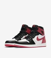 NIKE AIR JORDAN 1 Retro High *TRACK RED* bred toe off white top *EU 46/US 12*NEW