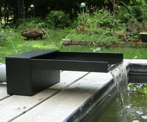 WASSERFALL für Teich / Bachlauf / Garten 30cm , Lippe 30cm , Anschluss 75mm