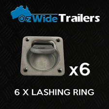 6 X LASHING RING TIE DOWN POINT ANCHOR UTE TRAILER