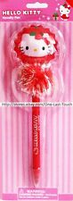 HELLO KITTY By Sanrio NOVELTY PEN Red Balloon+Fuzzy Tinsel Ball HOLIDAY (Carded)