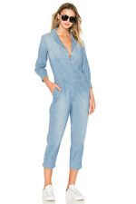 NWT $328 CURRENT ELLIOTT CANAL DENIM CHAMBRAY COVERALL JUMPSUIT SZ 1