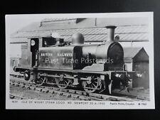 Isle of Wight Steam Loco W3 NEWORT c1950 Pamlin Print Postcard M39