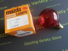 1 x rouge décor MAZDA 40w Bc B22 Lampe décoratifs globe R95 vintage Ampoule
