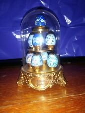 Miniature Faberge Egg Collection. Sapphire Garden Faberge Collection