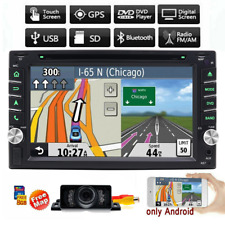 InDeck HD Double 2 din 6.2''Car stereo CD DVD Player+GPS Navigation + Free MAP