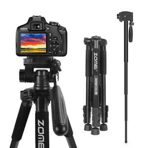 ZOMEI Professional Aluminum Tripod Monopod for Camera Photo Video Live Makeup
