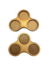 Movement Trays in MDF (Dux Brit) 3 SLOT (25mm diam.) type B x 2