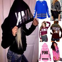 New Women Long Sleeve Hoodie Sweatshirt Sweater Casual Hooded Coat Pullover Tops