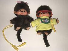 "Vtg MONCHHICHI Bebechhichi 5"" BOY & GIRL Original Plush & Extras LOT Sekiguchi"