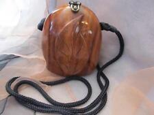 Timmy Woods of Beverly Hills Classic Leaf Acacia Wood Handbag Purse