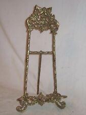 """ornate vintage brass frame easel holder stand antique style 13"""" elegant decor"""