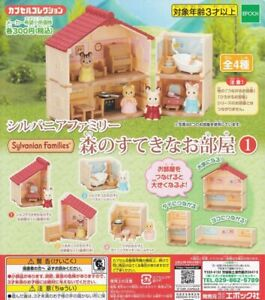 Sylvanian Families CAPSULE TOY FOREST ROOM No1 4pcs set Epoch Calico Critters