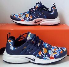 New Women's Nike Air Presto Print Blue Birthday Mesh Running Shoes 878070 Size 7