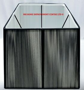 Black Angular Tapered Square String Lampshade White Diffuser W32.5cm H27.5cm