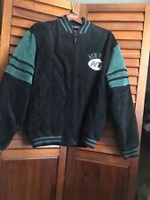 NY Jets Leather Jacket NFL Gameday Adult Size XXL