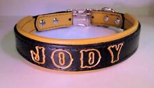 Standard Deer skin padded leather dog collar with quick release buckle