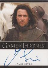 "Game of Thrones Season 1 - Jamie Sives ""Jory Cassel"" Autograph Card"