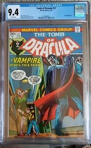 TOMB OF DRACULA #17 CGC 9.4 WHITE PAGES BLADE APPEARANCE GIL KANE COVER