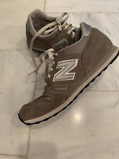 NEW BALANCE 373 Grey Suede Leather Retro Trainer Sneakers Shoes Men SZ 8 J Crew